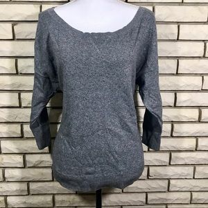 American Eagle Sweater Gray Large Scoop Neck